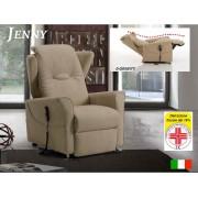 Il Benessere Poltrona Relax Jenny con 2 Motori e Alzapersona 0 Gravity e Pediera Estensibile Posizione Letto Iva Agevolata 4%