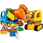 LEGO DUPLO 10812 Lánctalpas kotrógép és teherautó