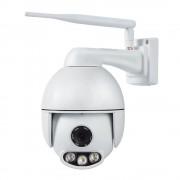 Camera inteligenta Qsmart Dome 2MP Full HD, 4X Zoom, IR 50m, Rotire/ Inclinare 355˚, aplicatie iOS/ Android