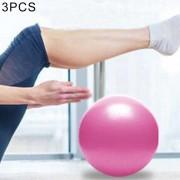 3 PCS Mini Yoga Pilates Pelota De PVC A Prueba De Explosion Bola Equilibrada Formación Fitness Gimnasia Con Paja, Diámetro: 25 Cm (rosa)