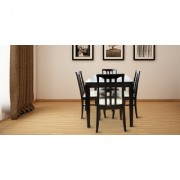 Furnit Four Seater Dining Table Set (Brown