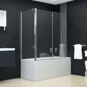 vidaXL Cabină de duș dublu-pliabilă, 120 x 68 x 130 cm, ESG