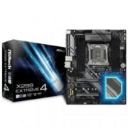 Дънна платка ASRock X299 Extreme4, X299, LGA2066, DDR4, PCI-E (SLI&CFX), 8x SATA 6.0 Gb/s, 2x M.2, 1x USB 3.1 Gen1, 1x Thunderbolt, RGB, ATX