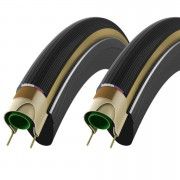 Vittoria Corsa G+ Clincher Tyre Twin Pack - 700c x 23mm - Tan/Black