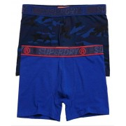 Superdry Boxershorts aus Bio-Baumwolle im 2er-Pack L dunkelblau