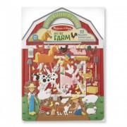 Melissa & Doug Kreatív játék, Pufi matrica készlet, farm