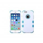 Funda Case para iPhone 6s / Iphone 6 Doble Protector de Uso Rudo-Blanco con Aqua