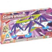 Set de constructie magnetic Supermag - Classic Trendy, 120 piese