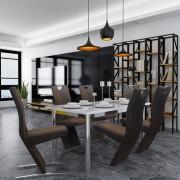vidaXL Cadeiras de jantar 6 pcs tecido castanho
