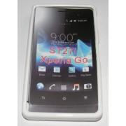 Силиконов гръб ТПУ за Sony Xperia Go ST27i Бял