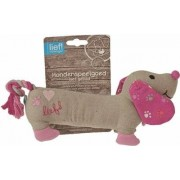 Lief! Lief! hondenspeelgoed canvas teckel met piep girls roze