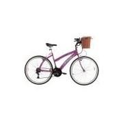 Bicicleta Track Bikes Aro 26 - 21 Marchas Week 200 Plus Lazer Rosa
