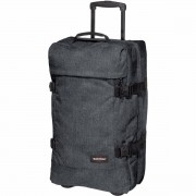 Eastpak Tranverz Medium 67cm 2-Wheel Soft-Sided Holdall - Black Denim
