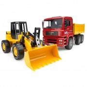 Bruder Tipper Lorry and Wheel Loader MAN TGA 1:16 02752