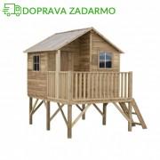 SPRINGOS Drevený záhradný domček pre deti JOSH