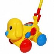 Jucarie pentru copii de impins Catelus cu accesorii