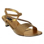 Dicy Comfort Women'S Sandals With Stylish Look New Latest Fashionable Comfortable To Wear With Attractive Look For Party Or Carry In Daily Life (38, Gold)