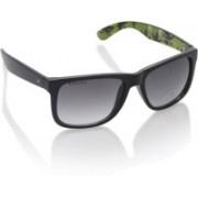 Fastrack Wayfarer Sunglasses(Green, Clear)