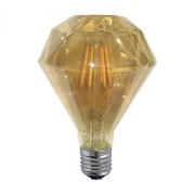 Ampoule décorative led diamant couleur ambre e27 6w