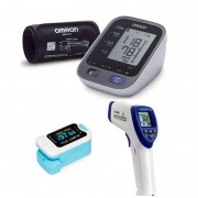 PACK AHORRO First Medical Diagnosis: Tensiómetro Omron M7 Intelli + Termómetro sin contacto + Pulsioxímetro de dedo