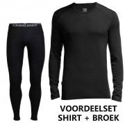 Icebreaker voordeelset Bodyfit 260 shirt en broek heren