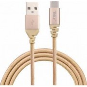 Cablu de date Tellur USB - Type-C Kevlar 1m Auriu