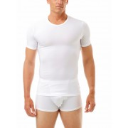 Underworks Shapewear Microfiber Light Compression Body Short Sleeved T Shirt White 498100