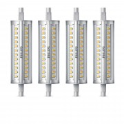 Philips Set di 4 lampadine lineari LED dimmerabili R7S 100W