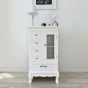 vidaXL Cabinet with 5 Drawers 2 Shelves White