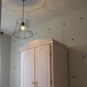 QAZQA Lampa wisząca Granny Frame 40cm czarna