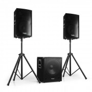Ibiza Cube 800W Altavoces + Subwoofer Activo PA Pro (BD-CUBE1512-SET)