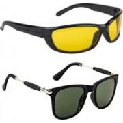 Domini Wayfarer, Butterfly Sunglasses(Yellow, Green)