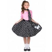 Disfraz rock & roll años 50 para niña 5-6 años (116 cm)