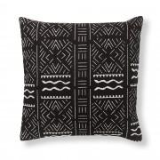 Kave Home Capa de almofada tribal Att , en Tecido - Preto