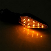 EY 2x 3528SMD 12LED Motocicleta De Color Doble Luz De Señal Indicador Flexible Amarillo Azul