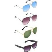 Zyaden Aviator, Aviator, Aviator, Wayfarer Sunglasses(Blue, Brown, Green, Black)