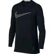 Nike Pro Playera para nio, Negro/Blanco, Medium