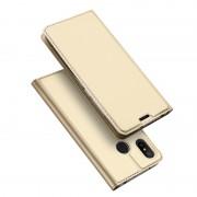 DUX DUCIS Skin Pro Series Card Holder Stand Leather Mobile Case for Xiaomi Mi A2 Lite / Redmi 6 Pro - Gold