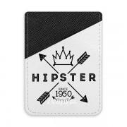 Pouzdro na kreditní karty iSaprio - Hipster Style 02 - tmavá nalepovací kapsa