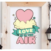 TenStickers Sticker tekening love is in the air