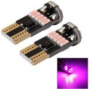 Mz 2 Pcs Dc 12v 2w 240lm 5500k T10-4014-15smd Car Width Lamp Clearance Light Parking Lights(pink Light)