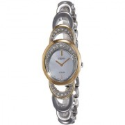 Seiko Analog Silver Round Women's Watch-SUP296P1