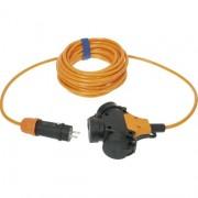 Verlengsnoer 5M PUR kabel 3x1,5mm² 3-voudig oranje
