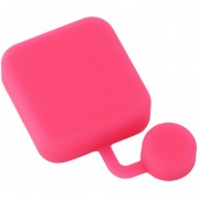ER Silicona Colorida Cámara Impermeable Lente Protectora Cubierta Protectora -Rosa Roja