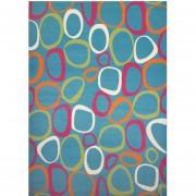 Tapete Decorativo Juvenil 160x225 Cm - Círculos Azul