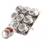 Set recipiente pentru condimente Peterhof 10 piese suport inox
