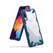 Husa Samsung Galaxy A50 2019 Ringke FUSION X Transparent/Albastru