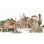 "Rome On Aida Counted Cross Stitch Kit-31""X19.75"" 18 Count (Pack of 1 )"