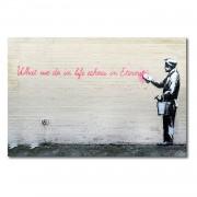 Foto op canvas Banksy No. 17