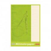 Hartie milimetrica 80 grame/mp A4 25 file